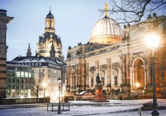 Die Dresdner Altstadt im Winter: - Foto: Michael R. Hennig