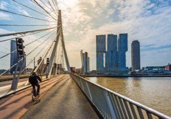 Erasmusbrücke in Rotterdam, Holland